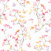Watercolor BranchWallpaper in Pink,Orange,Purple