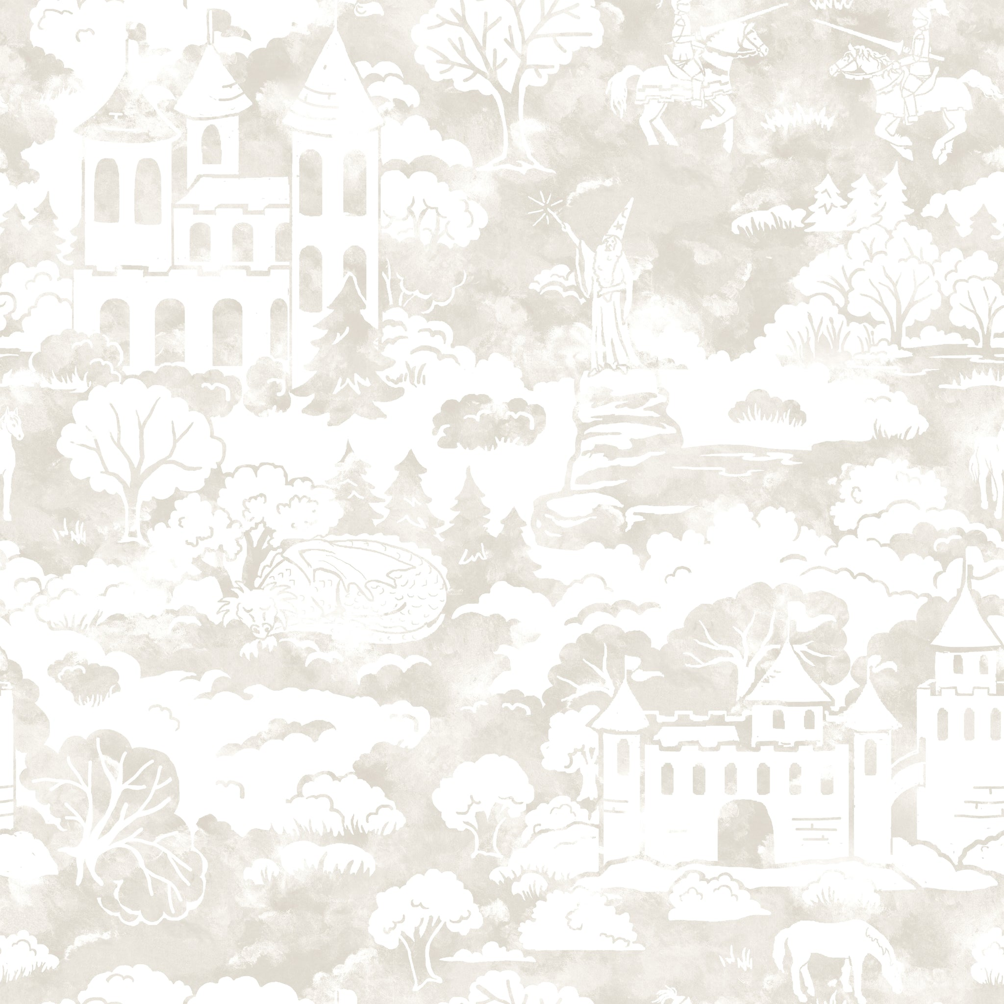 Quiet KingdomWallpaper in Taupe