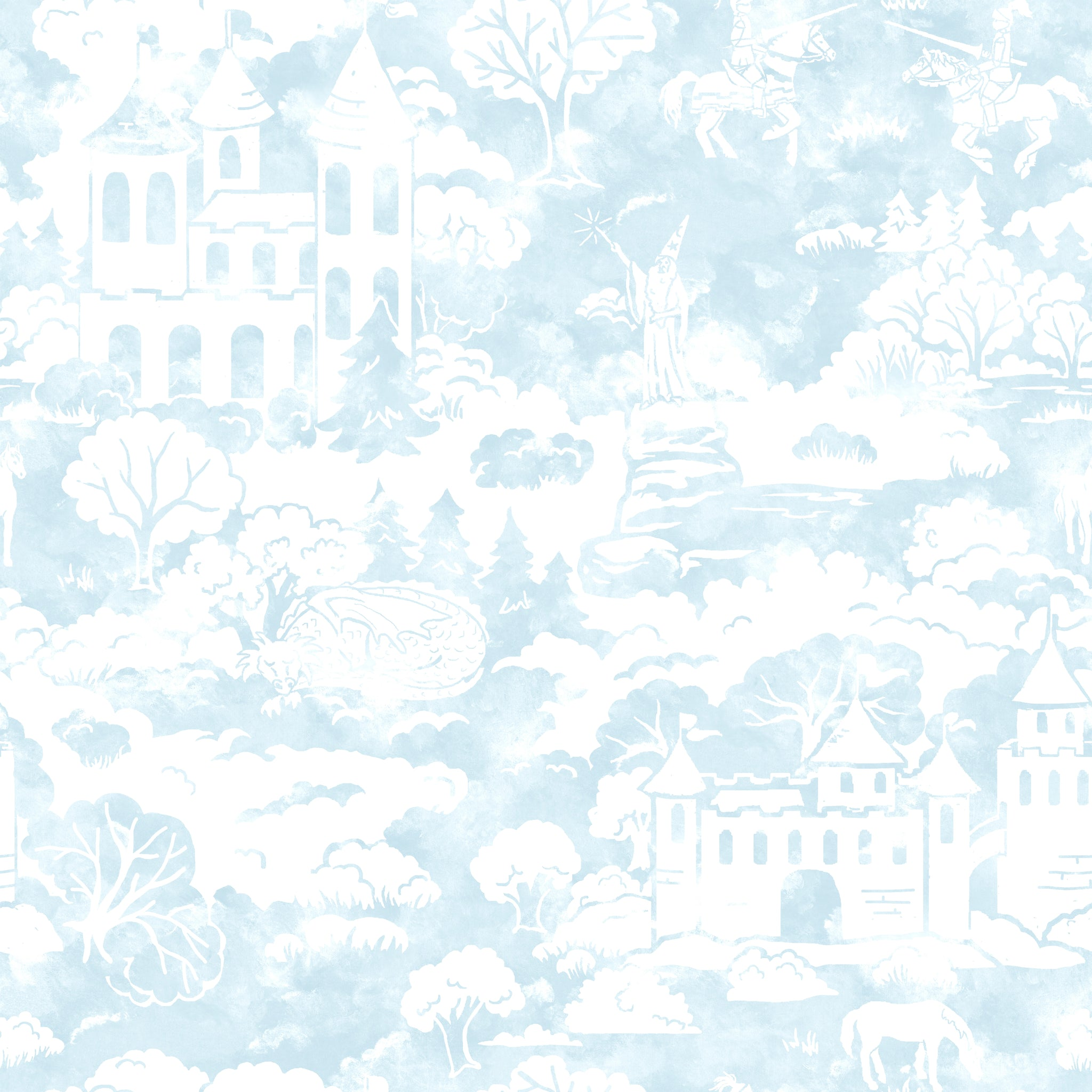 Quiet KingdomWallpaper in Blue
