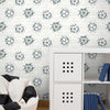 Soccer Ball BlastWallpaper in Navy,Kelly