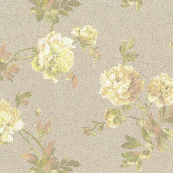 Organic Cork Prints Whitworth Peony Wallpaper