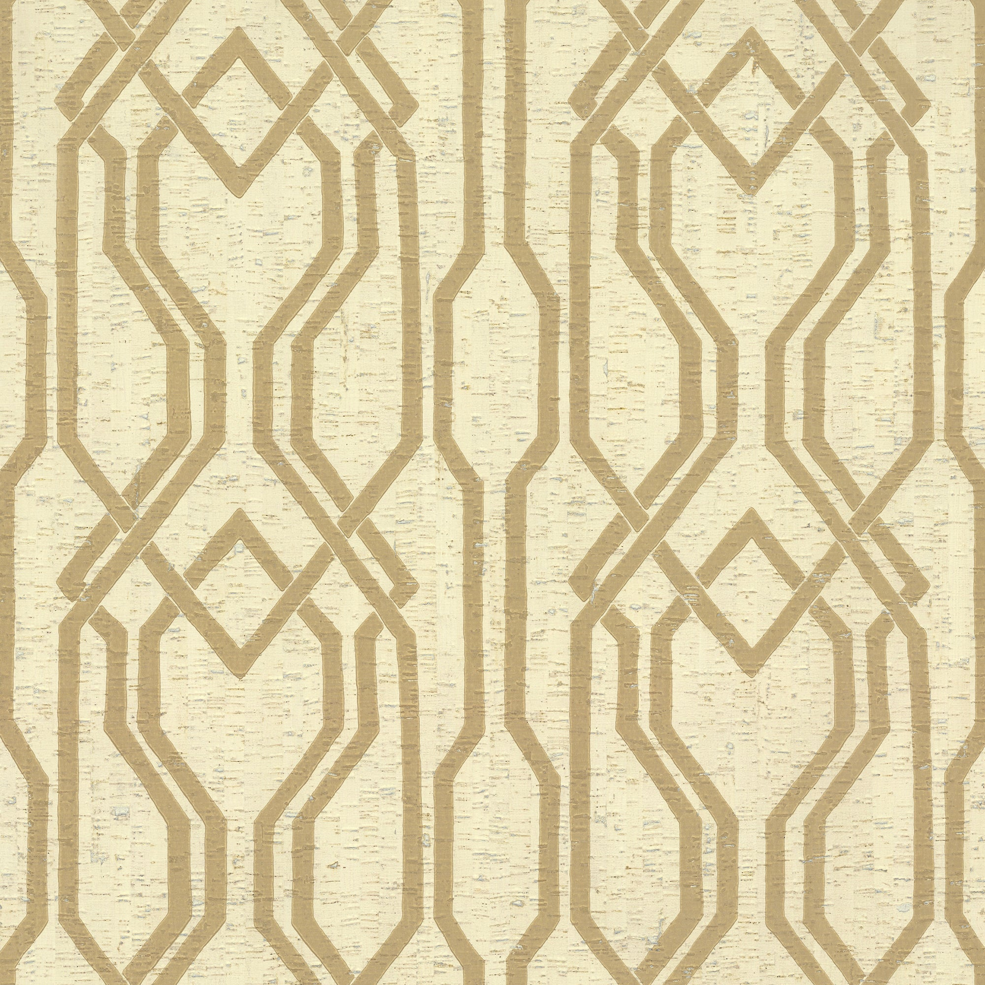 Organic Cork Prints Balanced Trellis Wallpaper