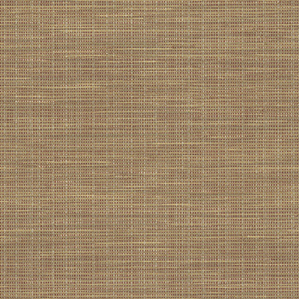 Kent Red Faux Grasscloth Wallpaper