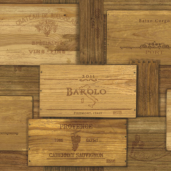 Randolph Brown Wine Crates Wallpaper