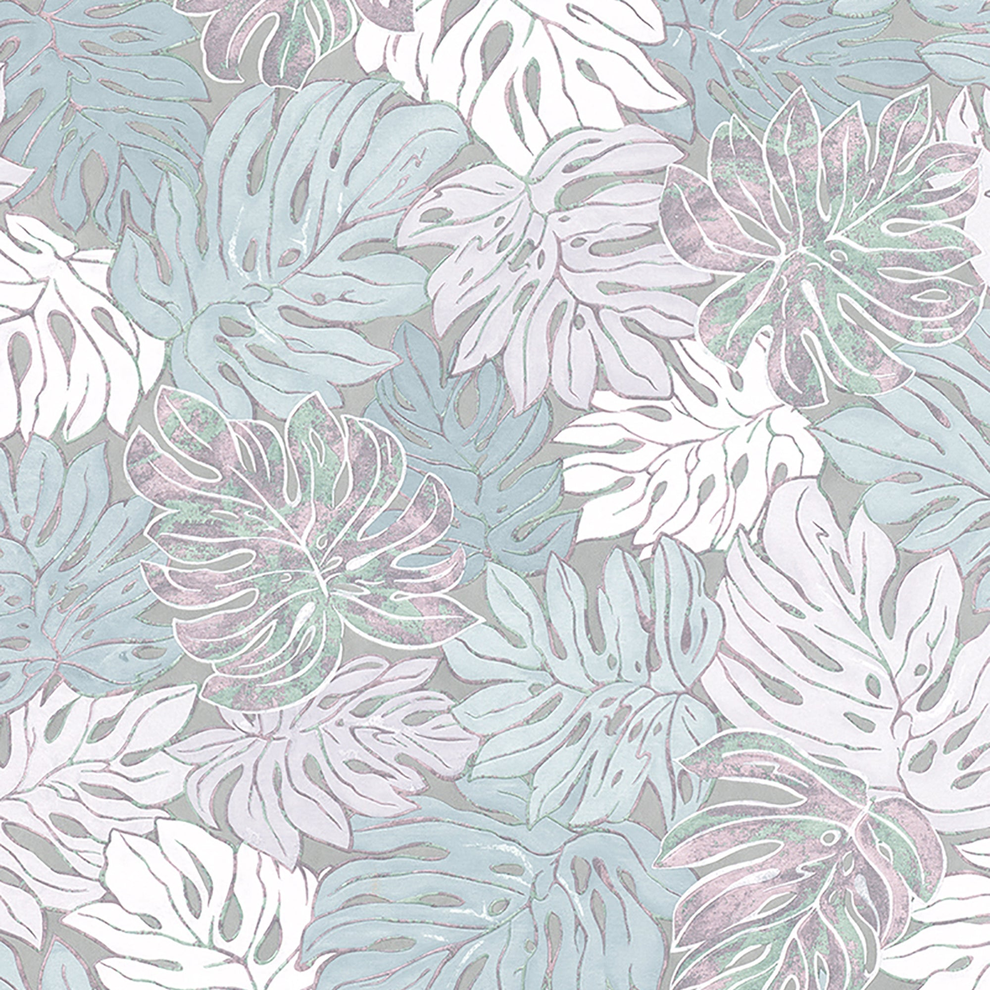 Cedar Grey Botanical Wallpaper