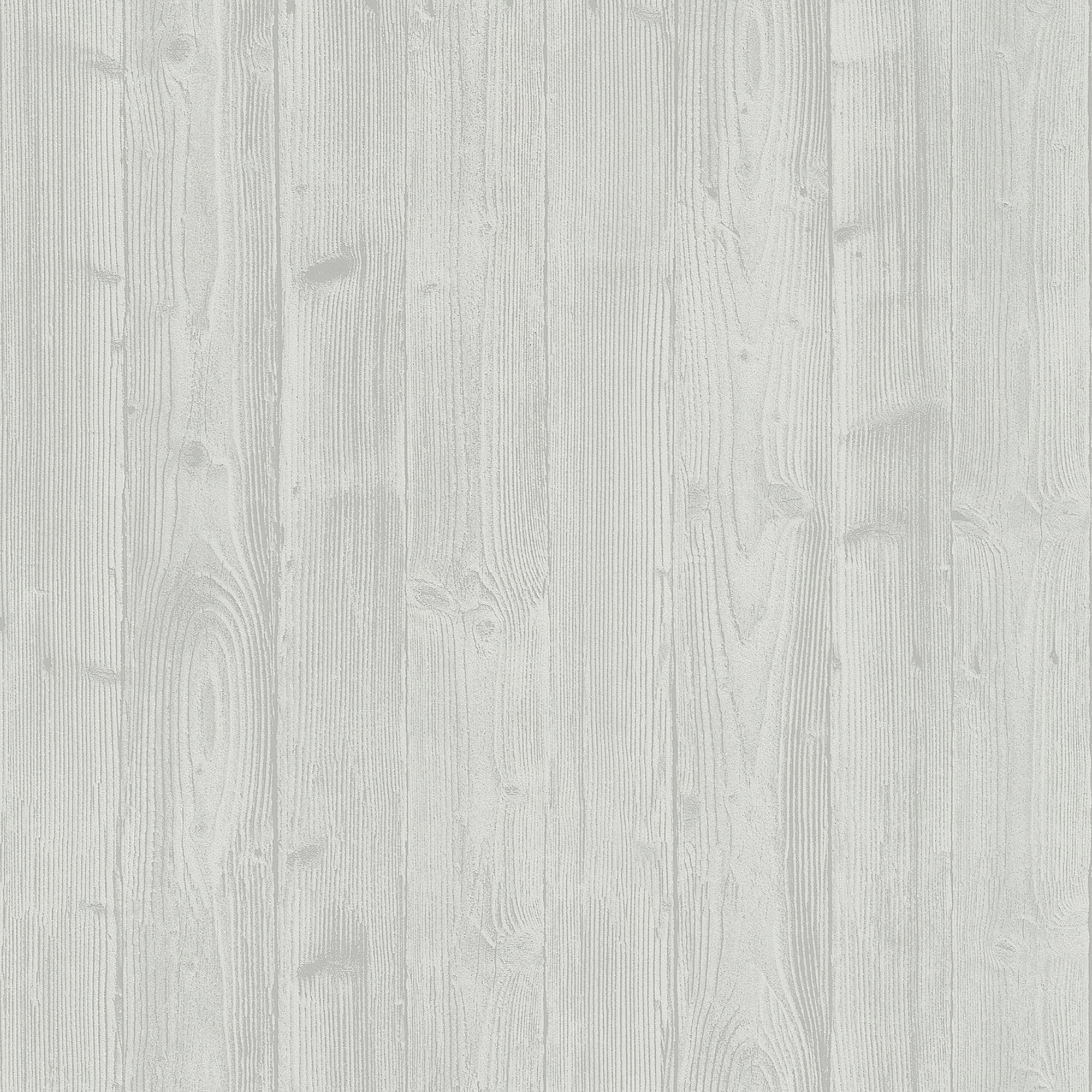 Talbot Light Grey Wood Wallpaper
