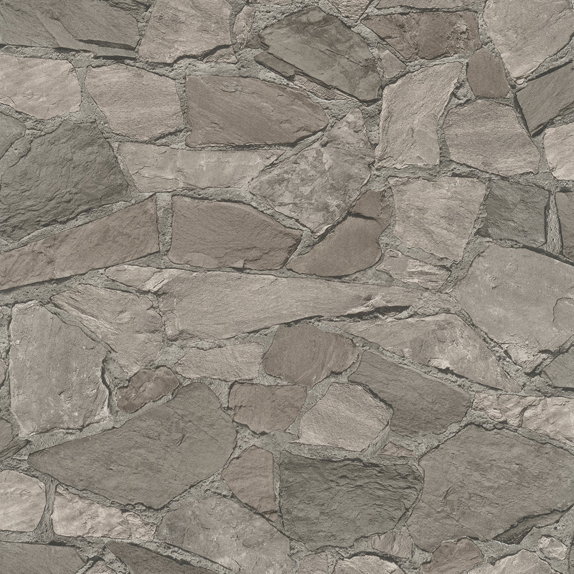 Stanley Charcoal Stone Wallpaper