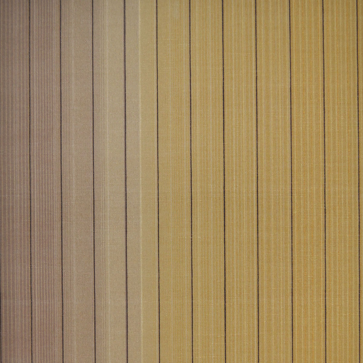 Missoni Home Vetical Stripe Wallpaper - Gold/Tan/Black in Brown