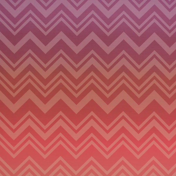 Missoni Home Zig Zag Sfumato Wallpaper - Coral Ombre in Pink