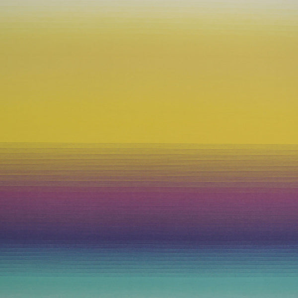 Missoni Home Riga Sfumato Wallpaper - Aqua/Violet/Yellow in Purple