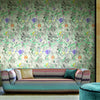 Missoni Home Dreamland Wallpaper - Aqua/Violet/Grey in Green