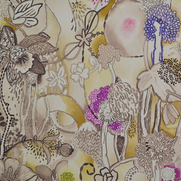Missoni Home Dreamland Wallpaper - Sepia/Wheat in Yellow/gold