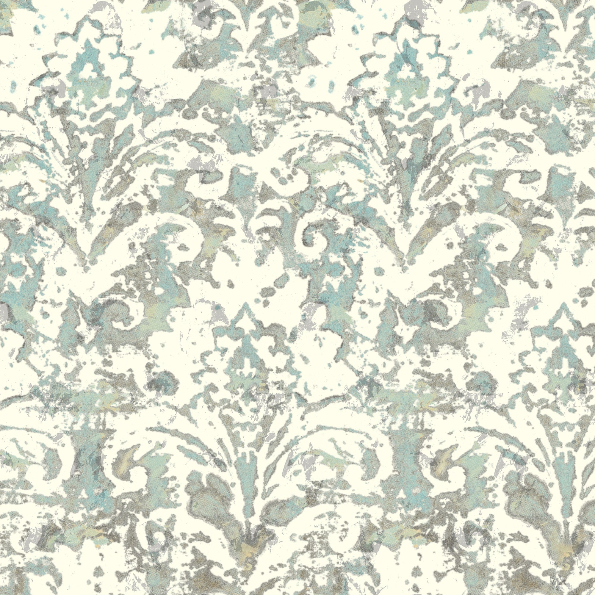 Cloud Nine Batik Damask Removable Wallpaper