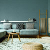 Woolen Weave Wallpaper in Blue