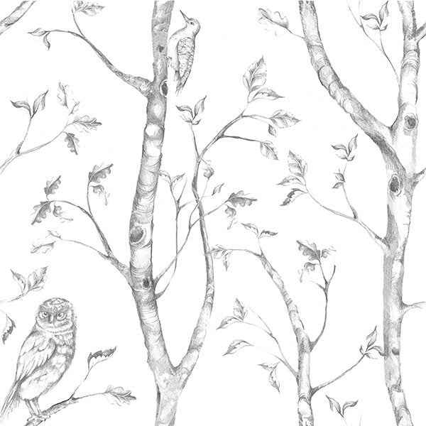 Grey Woods Peel And Stick Wallpaper
