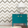 Taupe Zig Zag Peel And Stick Wallpaper