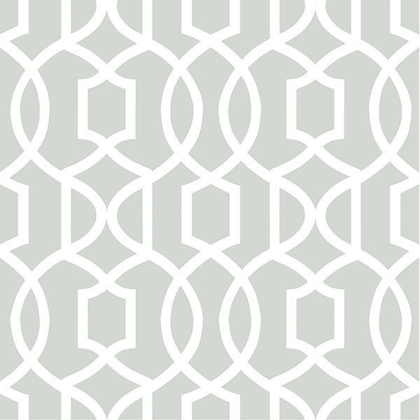 Grey Grand Trellis Peel and Stick Wallpaper