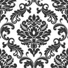 Ariel Black and White Damask Peel and Stick Wallpaper