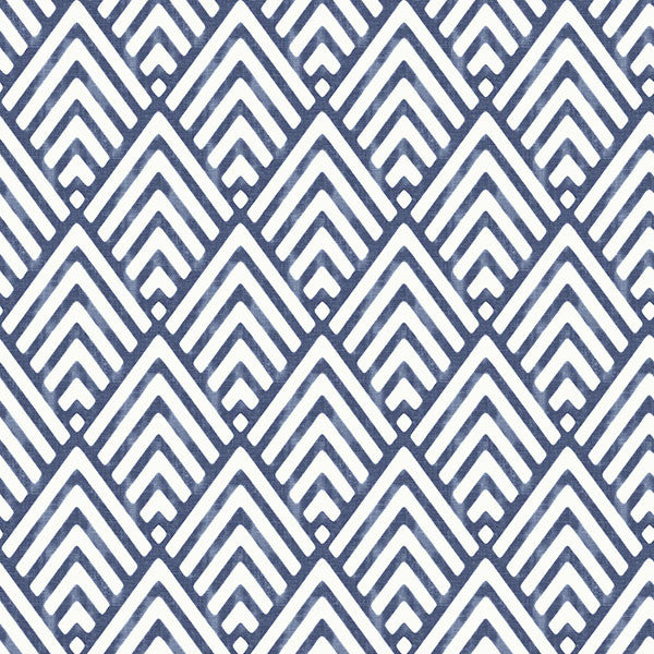 Arrowhead Deep Blue Peel and Stick Wallpaper