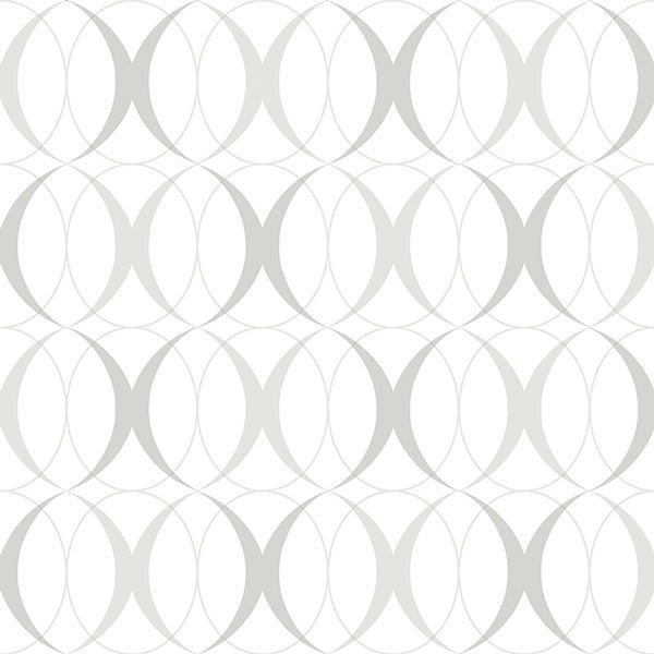 Circulate Light Silver Peel and Stick Wallpaper