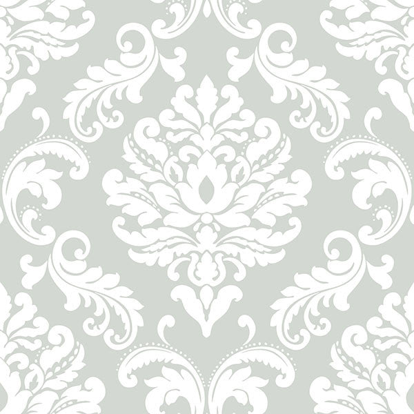 Ariel Grey Peel and Stick Wallpaper