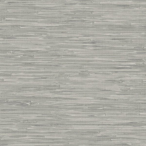 Tibetan Grasscloth Grey Natural Peel and Stick Wallpaper