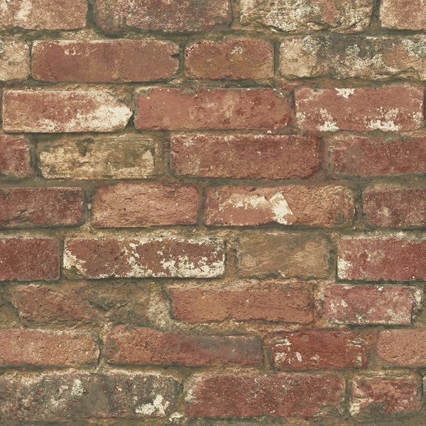 West End Red Brick Peel and Stick Wallpaper