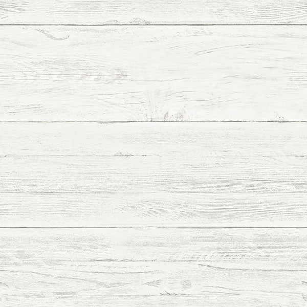 Shiplap Off-White Wood Peel and Stick Wallpaper