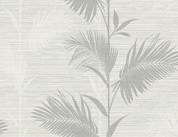 Away On Holiday Grey Palm Wallpaper