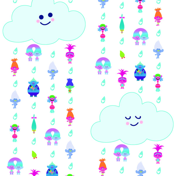 Trolls Clouds Peel & Stick Wallpaper