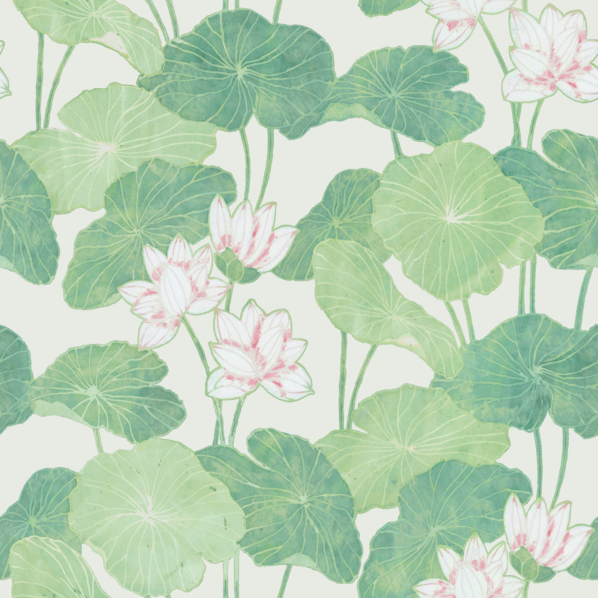 Neutral Lily Pads Peel & Stick Wallpaper