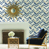 Chevron Blue Stripe Peel & Stick Wallpaper
