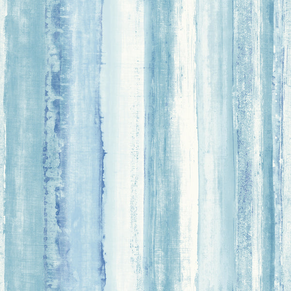 Watercolor Stripe Blue Peel & Stick Wallpaper