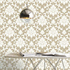 Damask Gold Peel & Stick Wallpaper