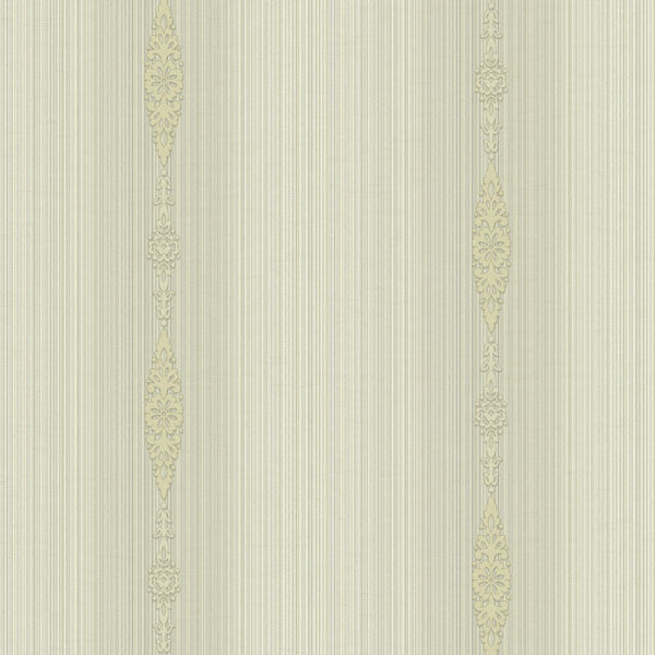 Devi Beige Embellished Stripe Wallpaper