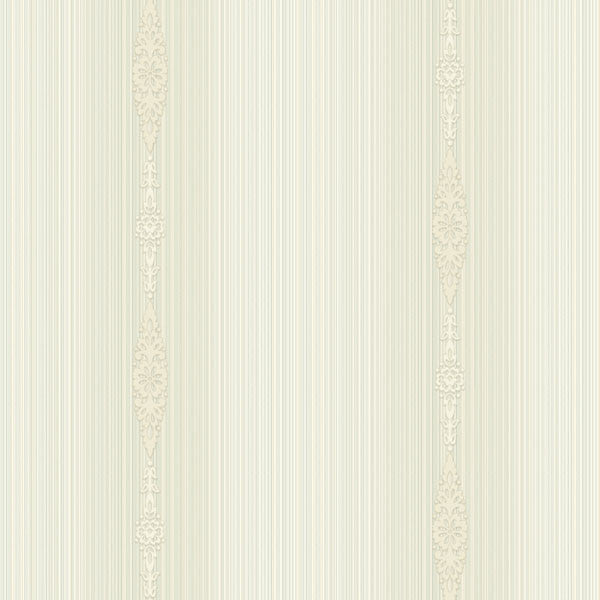 Devi Cream Embellished Stripe Wallpaper