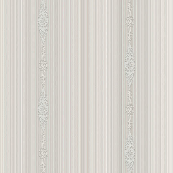 Devi Lavender Embellished Stripe Wallpaper