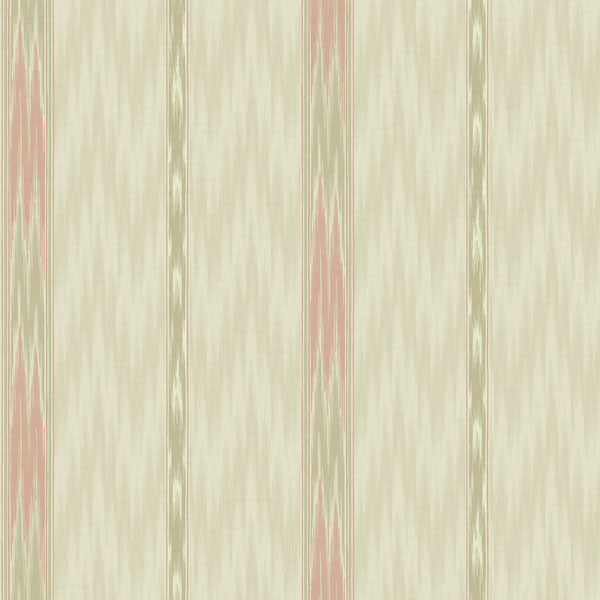 Sari Beige Ethnic Stripe Wallpaper