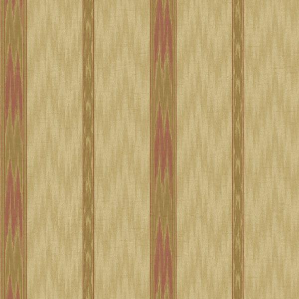 Sari Brown Ethnic Stripe Wallpaper