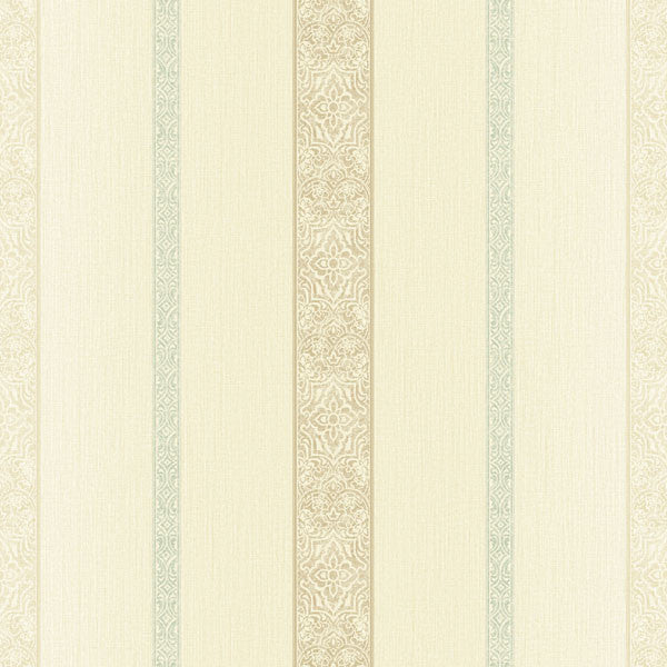 Chennai Blue Ornament Stripe Wallpaper