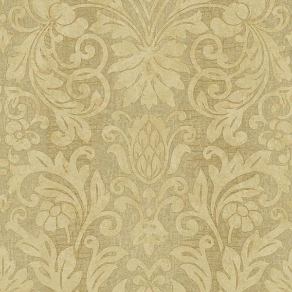 Nanda Brown Grand Damask Wallpaper