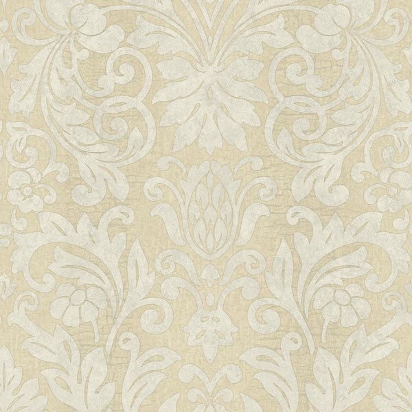 Nanda Beige Grand Damask Wallpaper