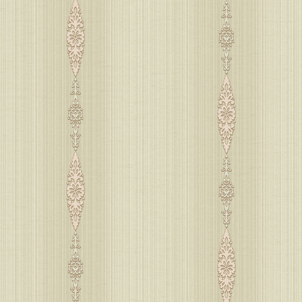 Devi Pink Embellished Stripe Wallpaper