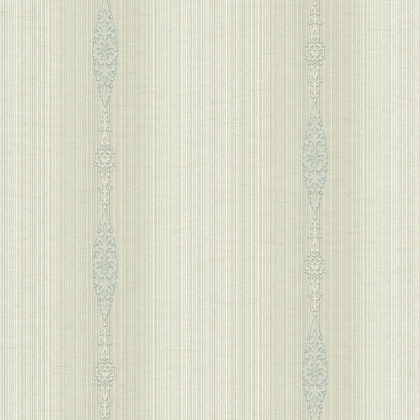 Devi Grey Embellished Stripe Wallpaper