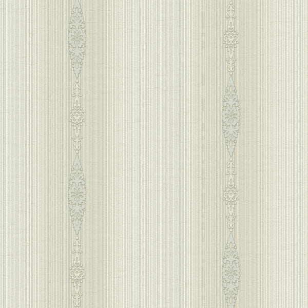 Devi Champagne Embellished Stripe Wallpaper