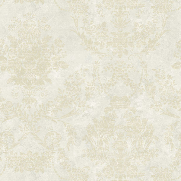 Kali Grey Floral Damask Wallpaper