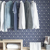 Indigo Arden Self Adhesive Wallpaper