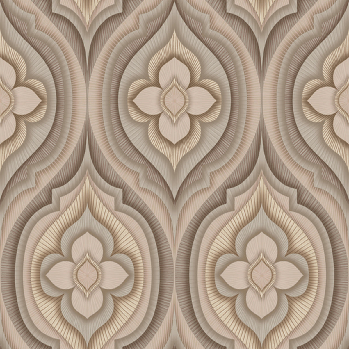Dream On Rhapsody Wallpaper in Brown