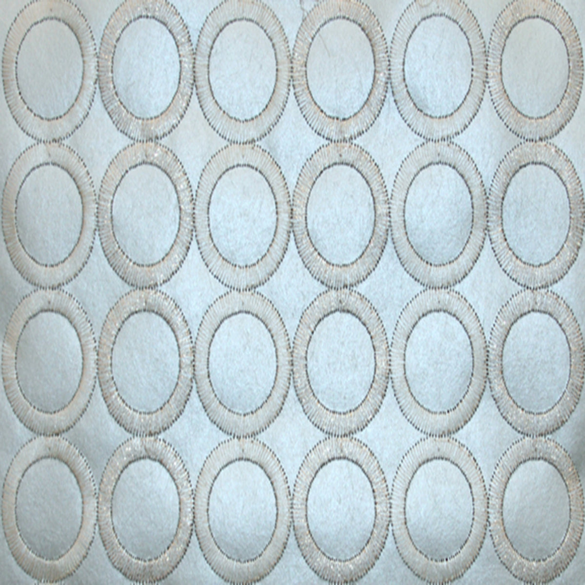Dream On Embroidered Circles Wallpaper in Green