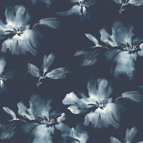 Candice Olson Tranquil Midnight Bloom Wallpaper